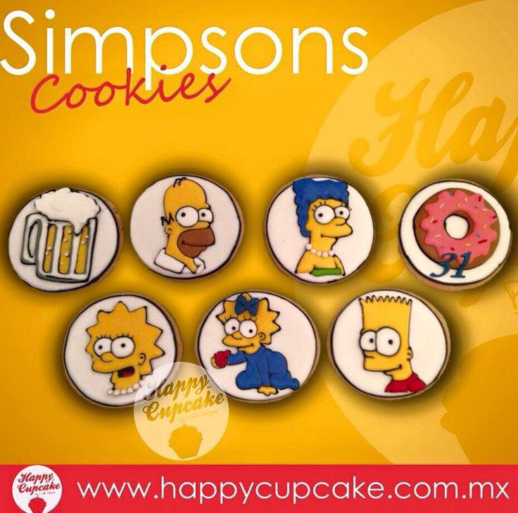 #SimpsonsCookies #Simpsons #HappyCupcake