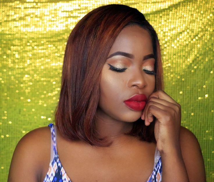 Classic Makeup look for black girls   Maquiagem  clássica para pele negra