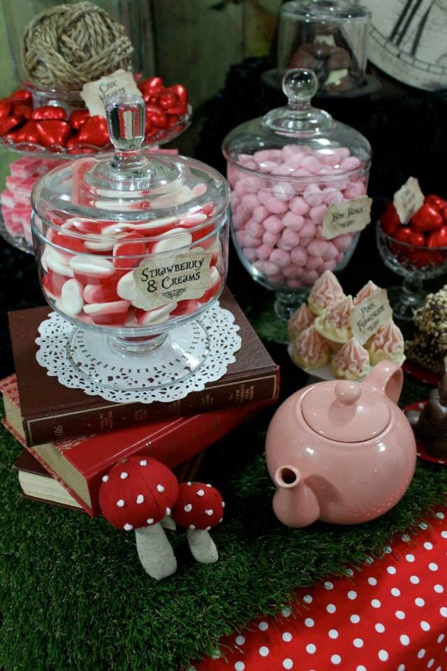 Mad Hatter Tea Party Candy Buffet