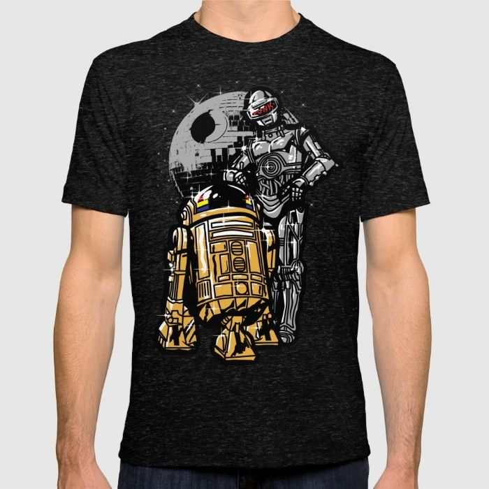 Daft Droids T-shirt by Jonah Makes Artstuff on society6. R2D2 3CPO star wars