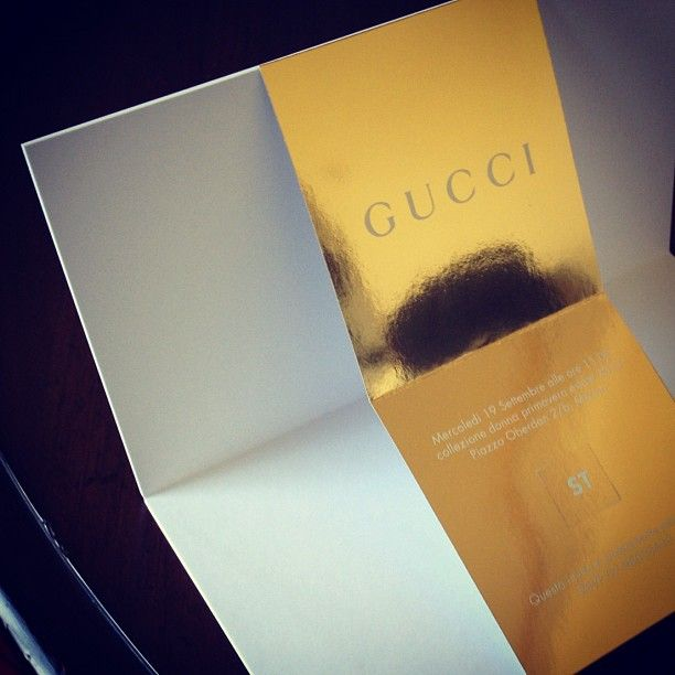 gucci runway invitation