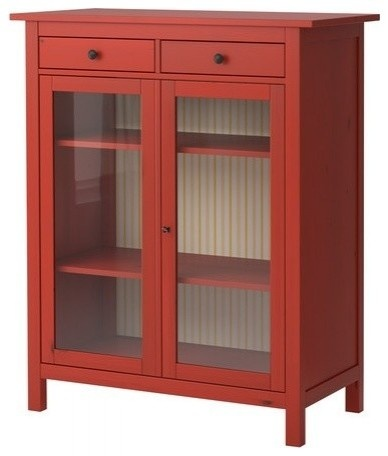 IKEA red linen closet (dresser w/bins). Redo backing in blk. design. Use lightweight, see-through bins.Red Glasses, Bathroom Storage, Linens Cabinets, Modern Bookcas, Glasses Doors, Bathroom Cabinets, Ikea, Hemnes Linens, Linens Closets