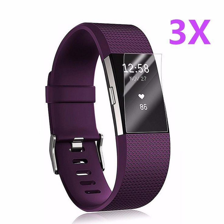 3x Anti-Scratch Clear HD Screen Protector Films Shield Guard For Fitbit Charge 2…