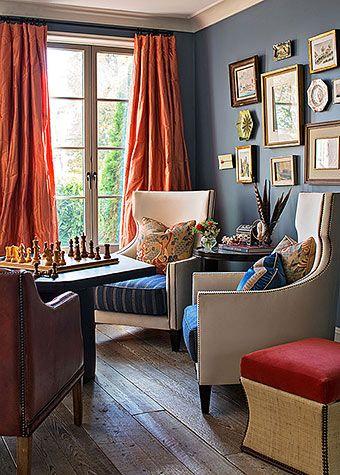 Die besten 25+ Orangefarbene vorhänge Ideen auf Pinterest - wohnzimmer orange schwarz