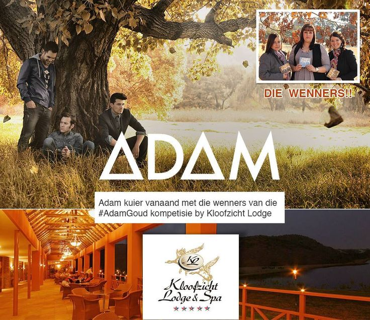 Kloofzicht Lodge & Spa is looking forward to providing a warm welcome to South African music group ADAM and the winners of the #adamgoud competition who will be enjoying a delectable dinner in the Wine Cellar tonight! Jealous much? We sure are!  #GuvonCelebs #atGuvon #adam