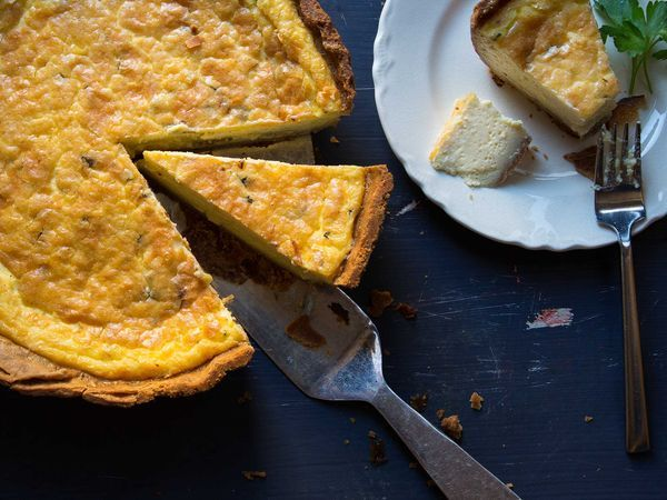 Not a '90s throwback: this quiche is super-velvety, loaded with cheese, and packed into a nutty spelt and whole wheat crust.