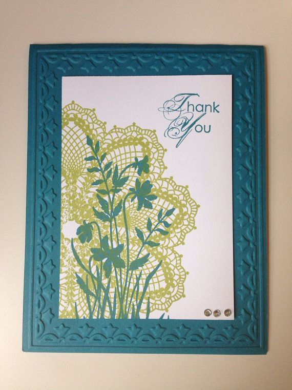 Thank You Doily Card with Stampin Up