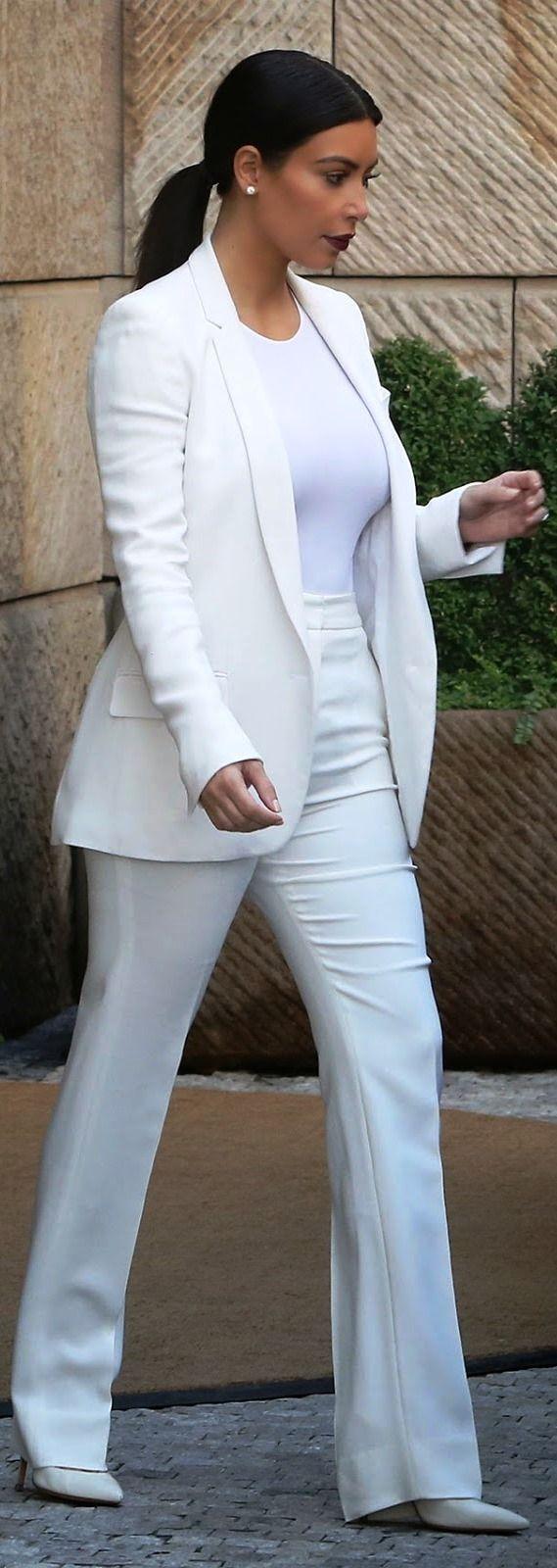 kim kardashian business attire