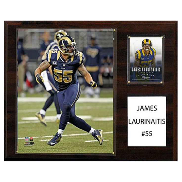 C and I Collectables NFL 15W x 12H in. James Laurinaitis St. Louis Rams Player Plaque - 1215LAURINAIT