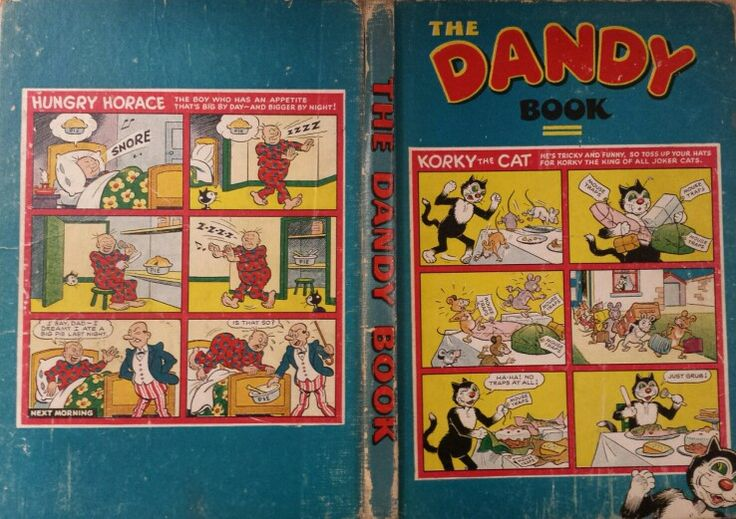 Front cover, spine and back cover of Dandy Book 1953
