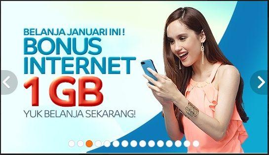Belanja di Elevenia, Bonus Internet 1 GB, 1-31 Januari 2015