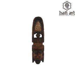 Máscara primitiva Bali em madeira 50cm - Decoração Bali