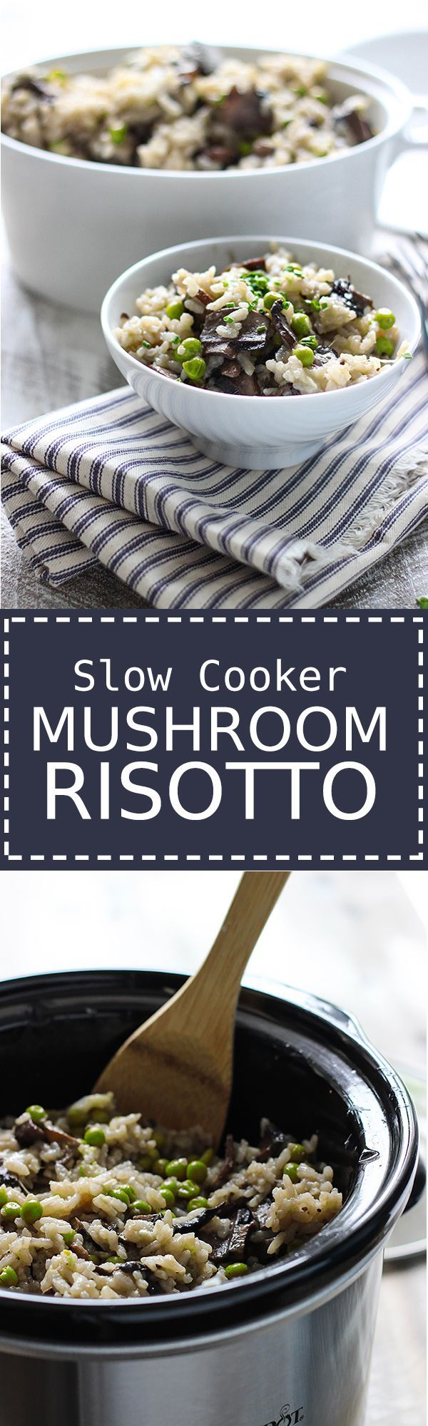 Cheat the time over the stove with this slow cooker mushroom risotto