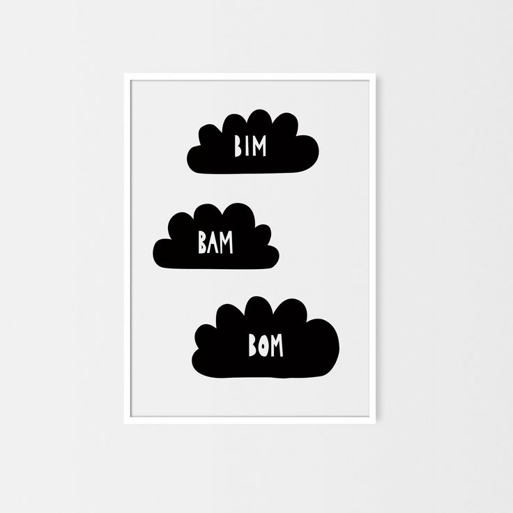 Bim Bam Bom by Milo Studio #pokójdziecka #ilustracja #nursery poster #scandinavian style #cloud #animal #baby #illustration #babyroom   https://www.facebook.com/milostudiopl