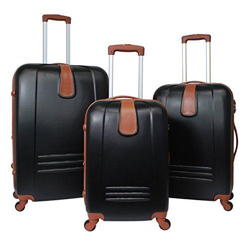 Luggage Sets Collections | World Traveler Classic Journey 3Piece Hardside Spinner Luggage Set Black * For more information, visit image link. Note:It is Affiliate Link to Amazon.
