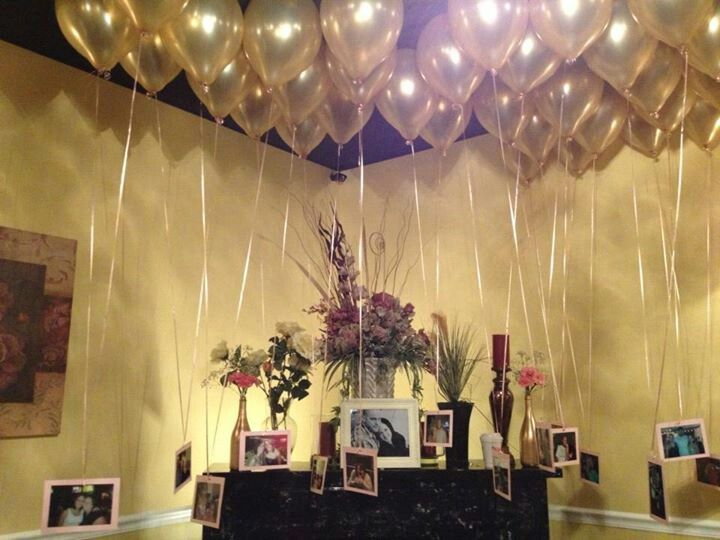 Balloon chandelier my bridal shower 7 27 13 bubbles for Balloon chandelier decoration