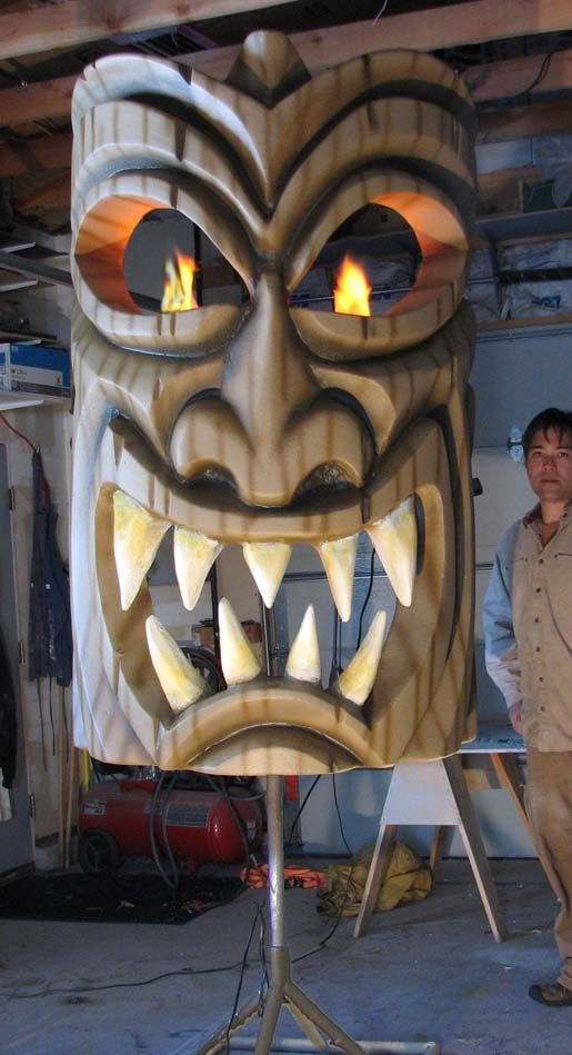 EyeCandyProps.com » Giant 3d sculpted foam tiki head prop! Ready for Halloween! | EyeCandyProps.com