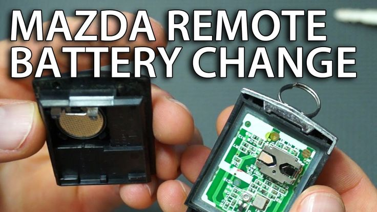 How to replace battery in #Mazda remote (6, 3, 5, 2, MPV, RX-8, CX-7 flip key fob #battery change #remote)