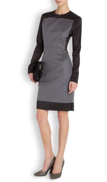 ACNE Lucille Two-Tone Dress | Harvey Nichols