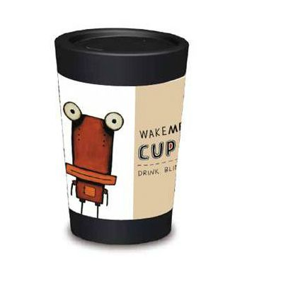 The Tin Man reusable coffee cup by New Zealand company Cuppacoffeecups.