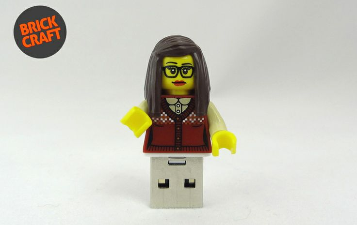 Geek Girl 8GB USB w BRICK CRAFT  na DaWanda.com #lego usb #lego pendrive