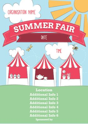 Summer fair posters from PTA Print Shop: http://www.ptaprintshop.co.uk/c/185/fairs