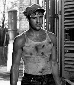 A young Marlon Brando in A Streetcar Named Desire
