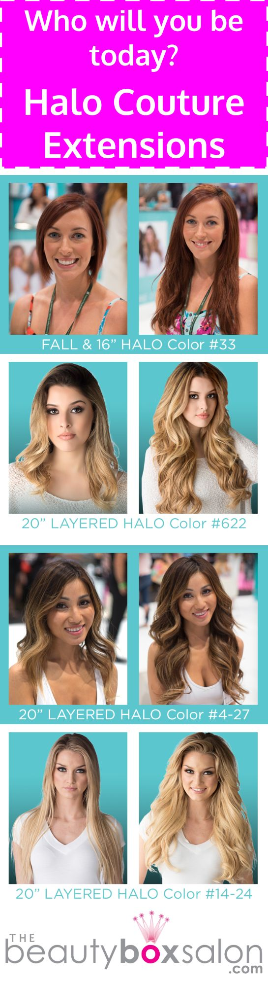 Thinking of getting Halo Hair Extensions? We have these babies in stock! Dallas Halo Hair Extension Salon. #halohairextensions #dallashair #thebeautyboxsalon