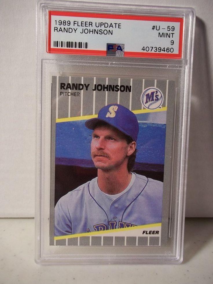 1989 fleer update randy johnson rookie psa mint 9 baseball