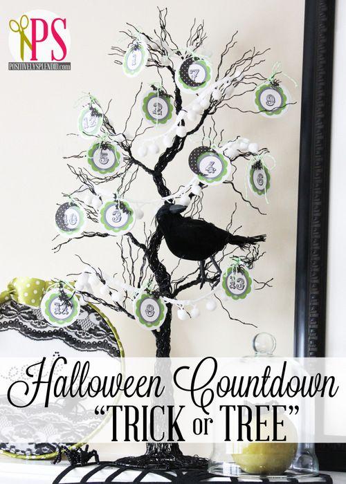 Halloween Countdown Tree (Trick or Tree | Halloween Countdown ...