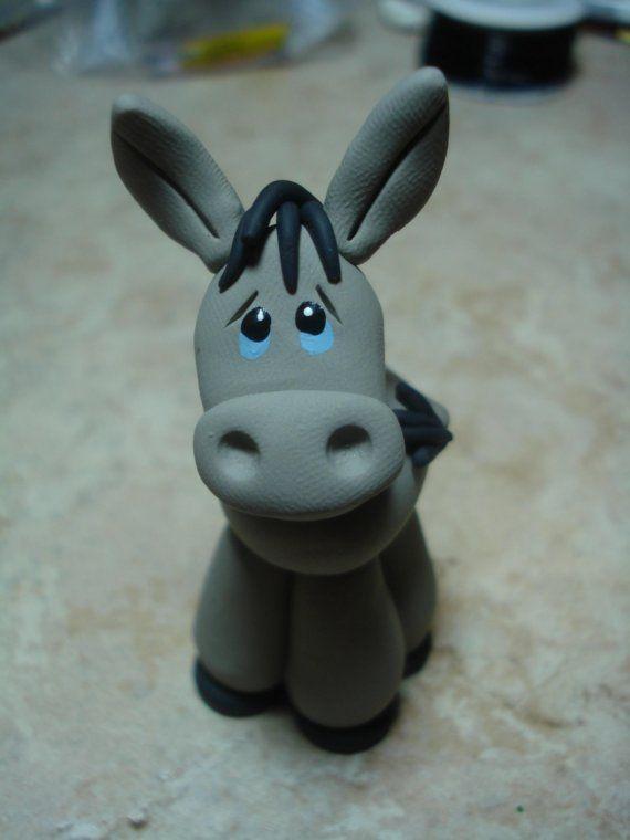 Donkey Clay Figurine