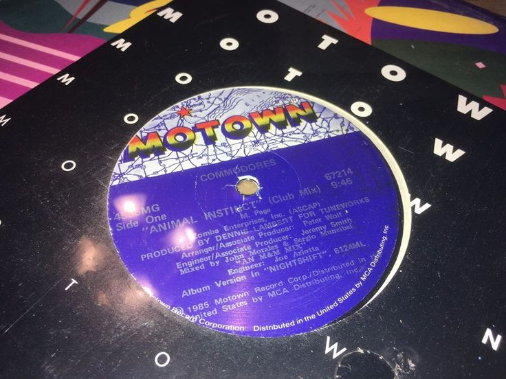 "Commodores Animal Instinct Motown Records 1985 12"" Disco Funk Soul Synth Pop #DiscoElectroFunkElectronicaHouseSynthPop"
