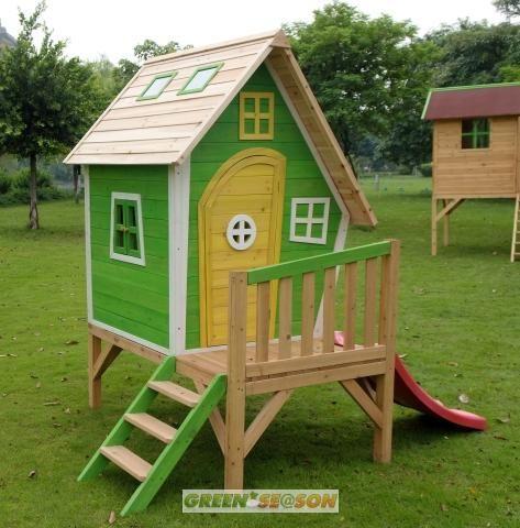 stilt playhouses | Kinderspielhaus-Stelzenhaus-Baumhaus-Hexenhaus-aus-Holz