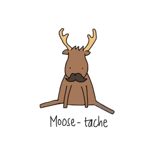 Again, the person who made this might not have intended for this to be Supernatural related, but come on! It's a moose!! And a mustache! Can this get any better?