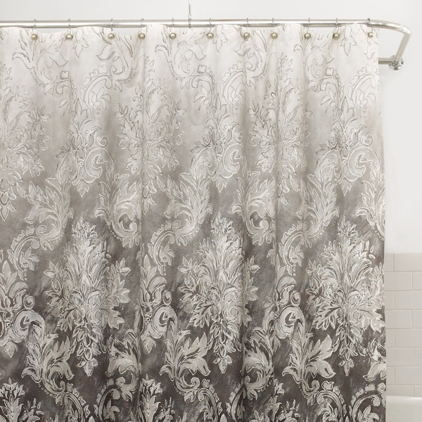 Lux Ombre Fabric Shower Curtain @ Bed Bath & Beyond - 12 Best House: Guest Bath Images On Pinterest Guest Bath