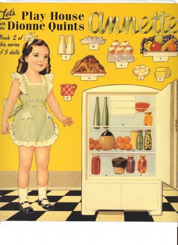 Annette Dionne paper dolls