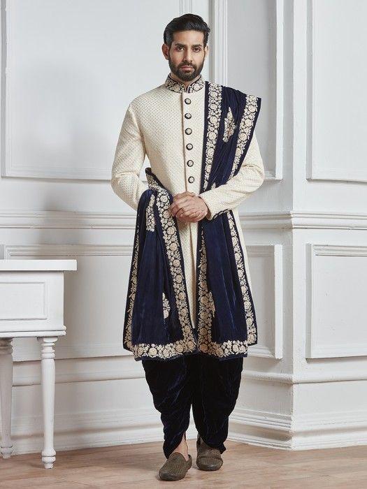 Off White Groom Indo Western Mens Fashion Fashion For Men
