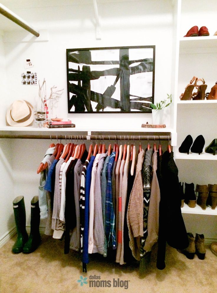 Why I Got Rid of My Wardrobe | Dallas Moms Blog.....She advocates for maintaining a 37 piece wardrobe: 15 tops, 9 bottoms, 9 pairs of shoes, 2 dresses, and 2 jackets....Honestly, I don't even have that much. Probably why I really can't ever find anything to wear b