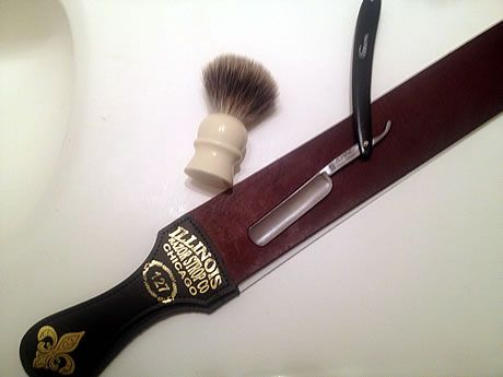 Men can get a clean, plastic-free shave by trading in disposable razors for a traditional straight razor (it's what they used in the pre-plastic days -- you just have to get the hang of it!)