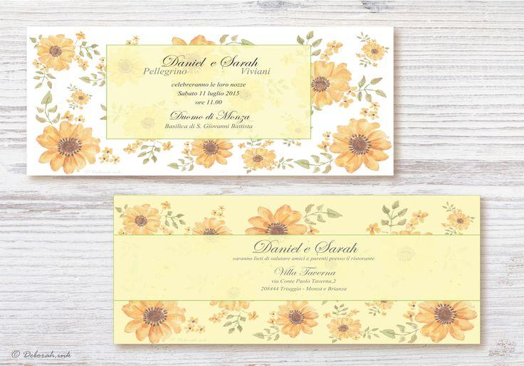 Invito e partecipazione di nozze