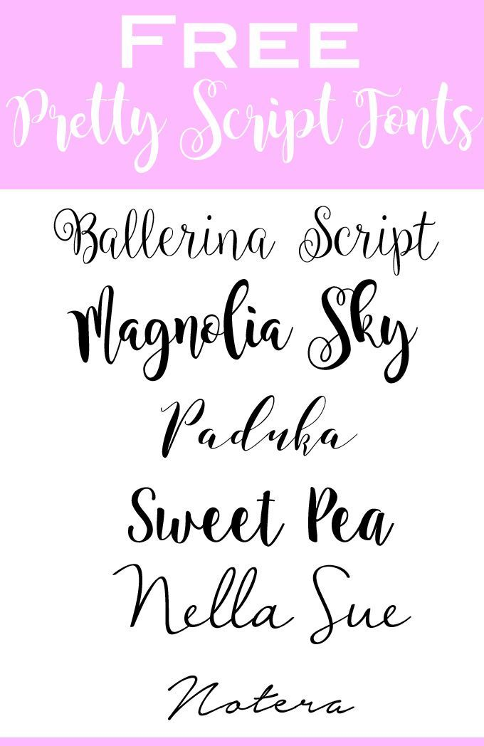 Free + Pretty Handwriting Fonts