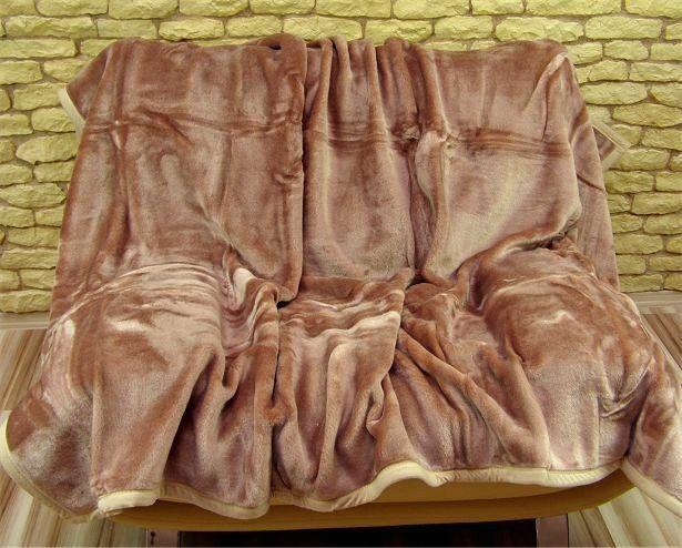 Luxusní deka hnědé barvy s hrubým vláknem