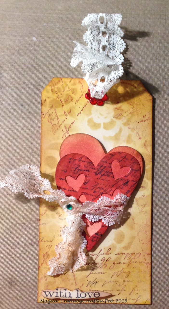 Distress Valentine Tag 2016