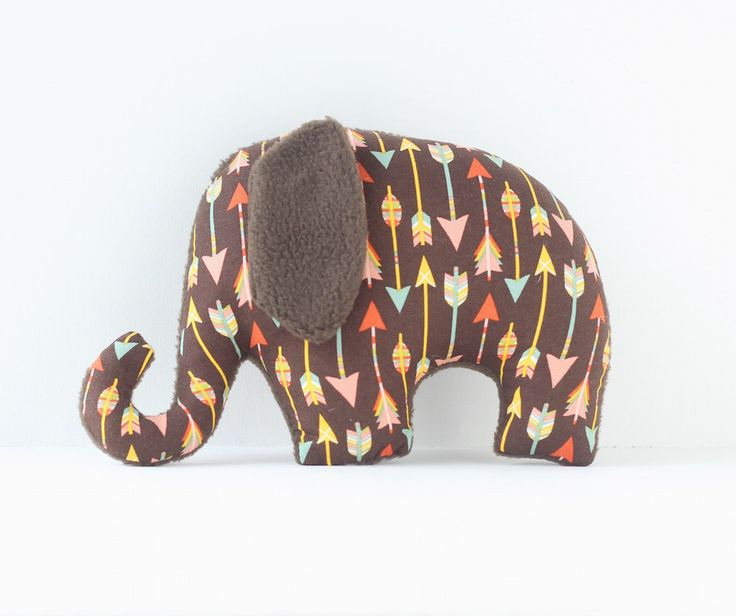 Tribal Arrow pattern Elephant soft toy / plush toy for baby. by LaLaLaDesigns on Etsy