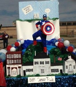 Homecoming Float superheros | The Demopolis High DECA club and career tech classes utilized a ...