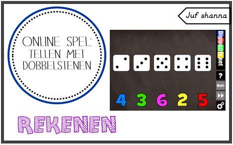 Juf Shanna: Online spelletje: tellen met dobbelstenen