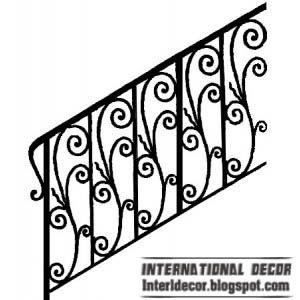 Iron stairs railings designs - Iron staircase railings designs