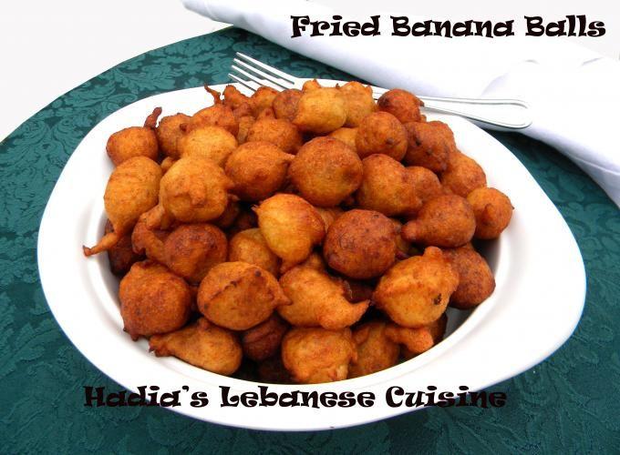 Fried Banana Balls | Hadia's Lebanese Cuisine. Basically a banana hush puppy.