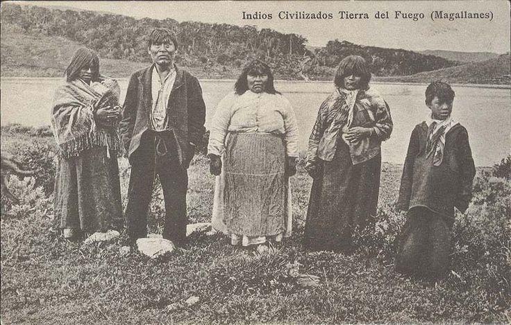 CHILE TIERRA DEL FUEGO INDIOS CIVILIZADOS MAGALLANES