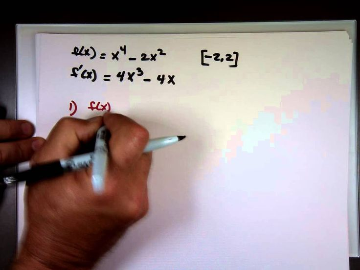 Sec 4.2 - Rolle's Theorem & Mean Value Theorem
